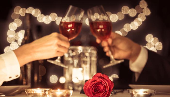 romantic valentine's day couple.