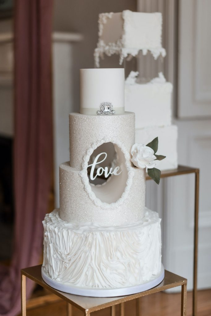 cut out wedding cake