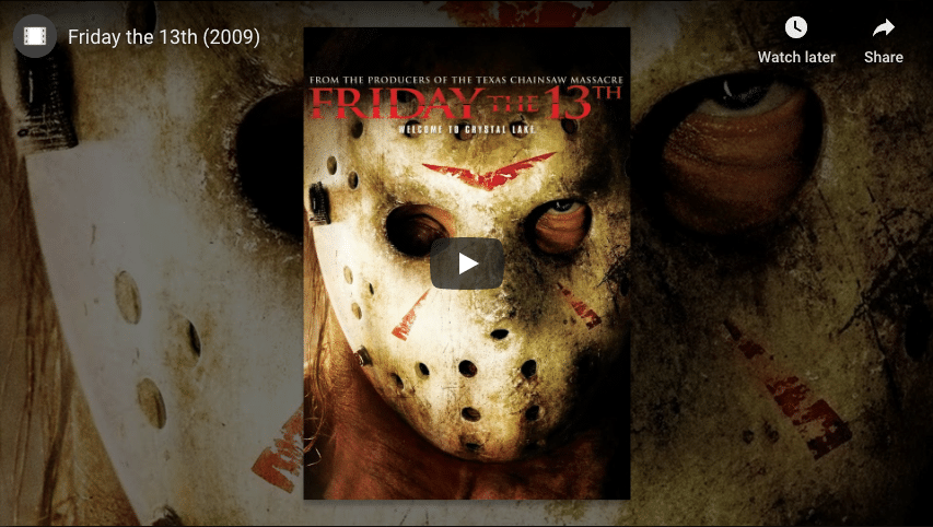 Friday the 13th Trailer.